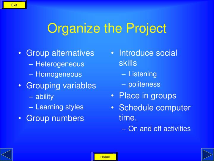 Group alternatives