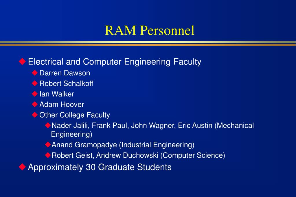RAM Personnel