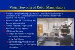 visual servoing of robot manipulators
