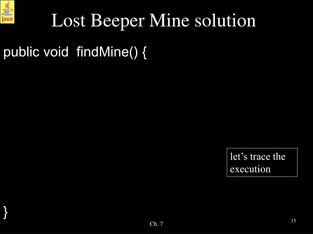 Lost Beeper Mine solution