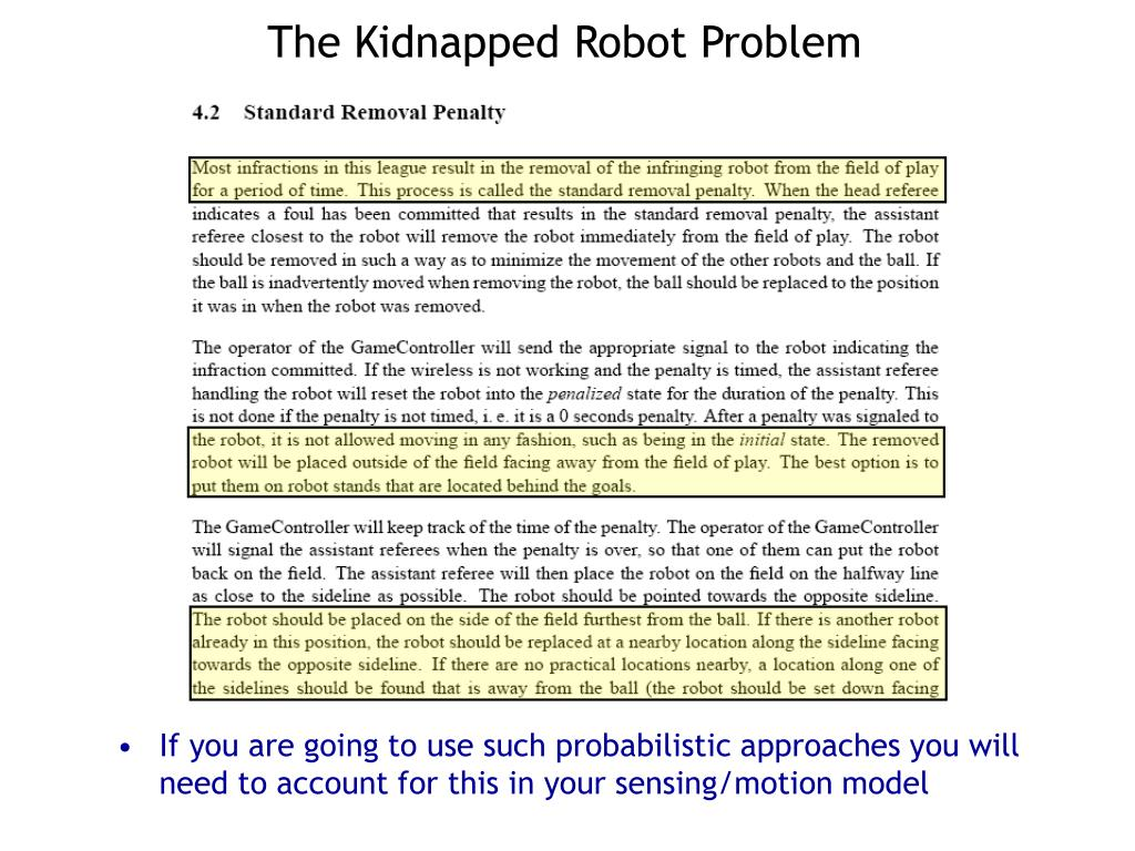 The Kidnapped Robot Problem