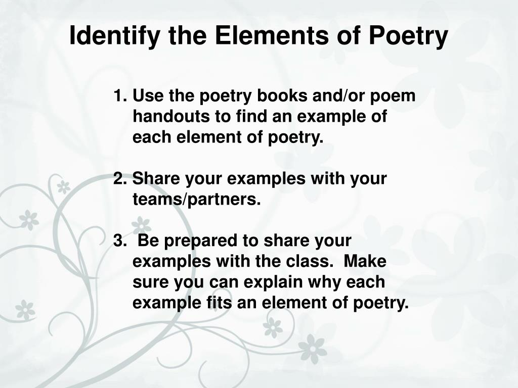 ppt - elements of poetry powerpoint presentation