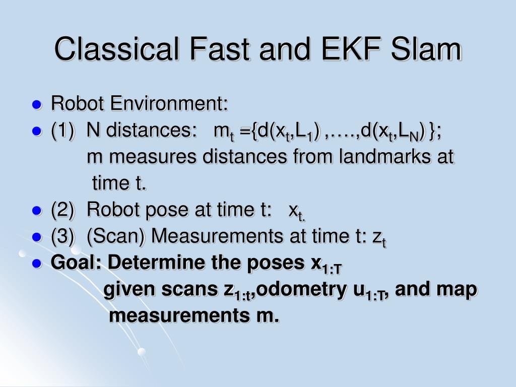 Classical Fast and EKF Slam