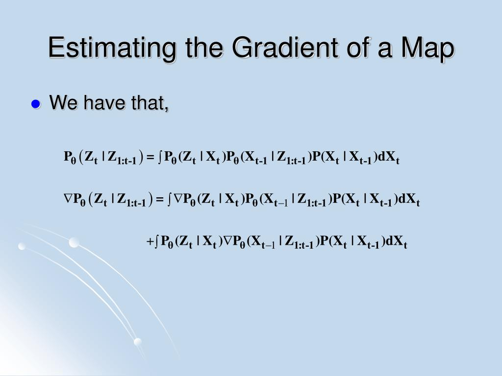 Estimating the Gradient of a Map