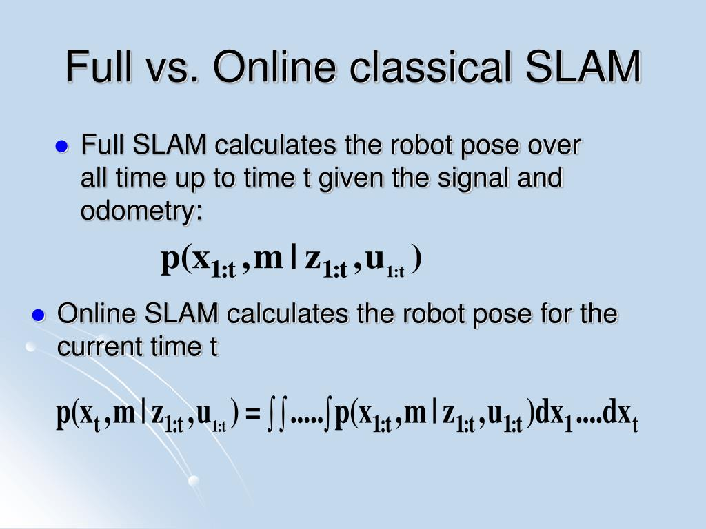 Full vs. Online classical SLAM