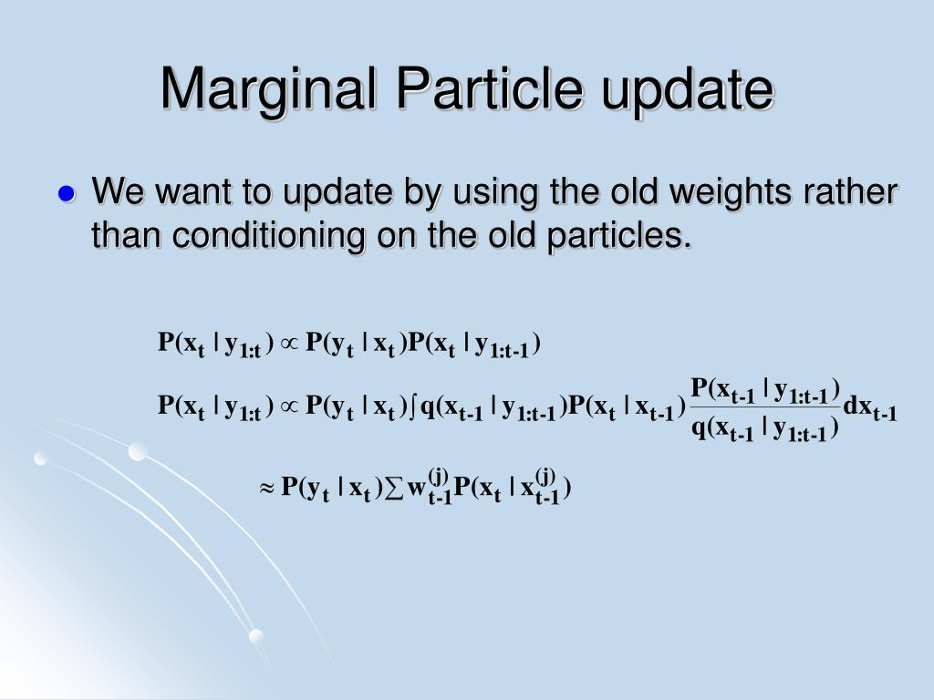 Marginal Particle update