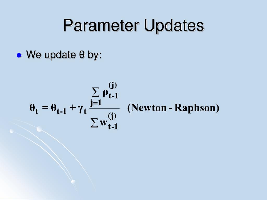 Parameter Updates