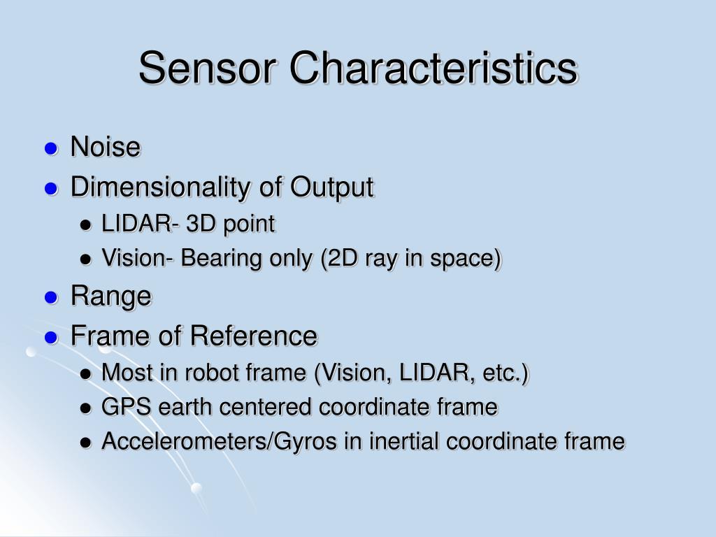 Sensor Characteristics