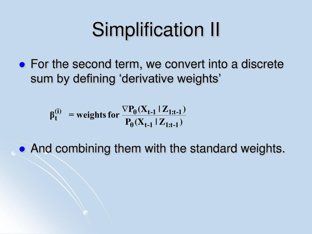 Simplification II