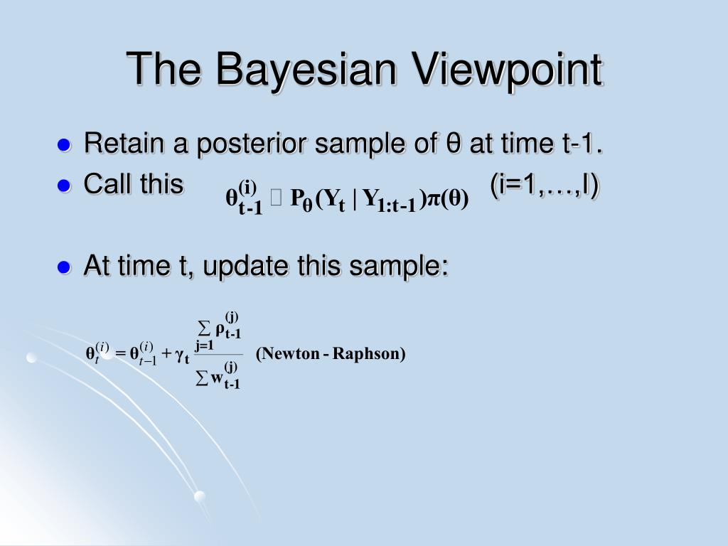 The Bayesian Viewpoint
