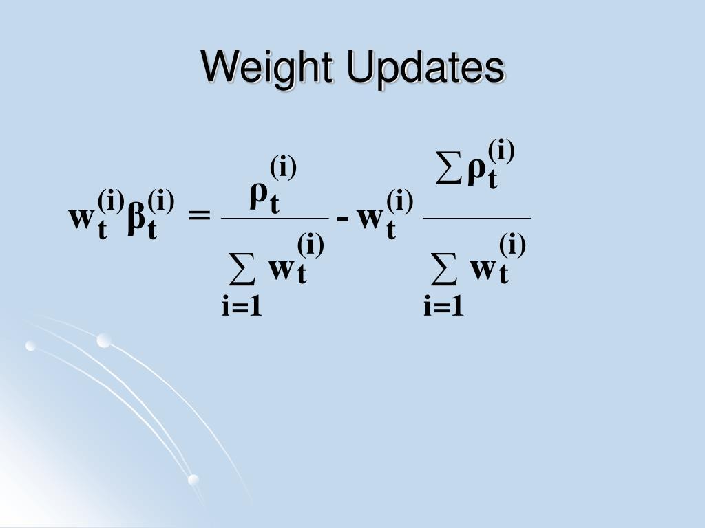 Weight Updates