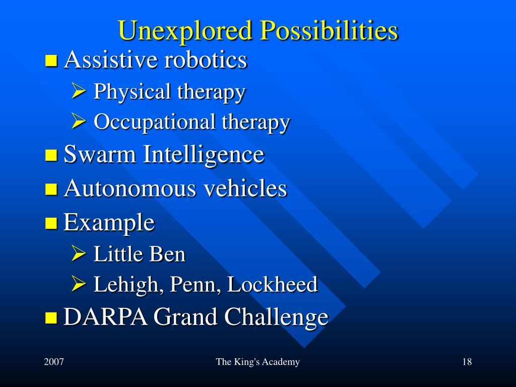 Unexplored Possibilities