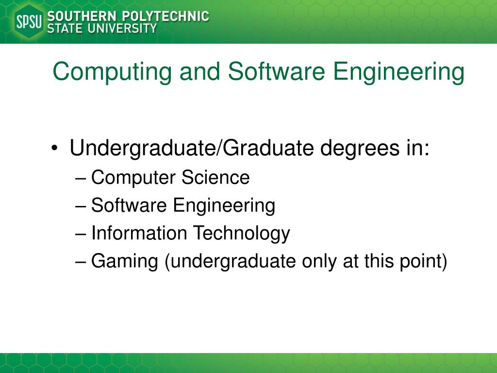 Computing and Software Engineering
