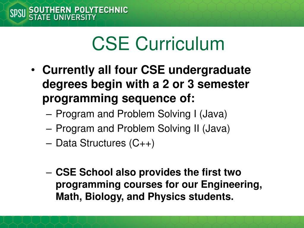 CSE Curriculum