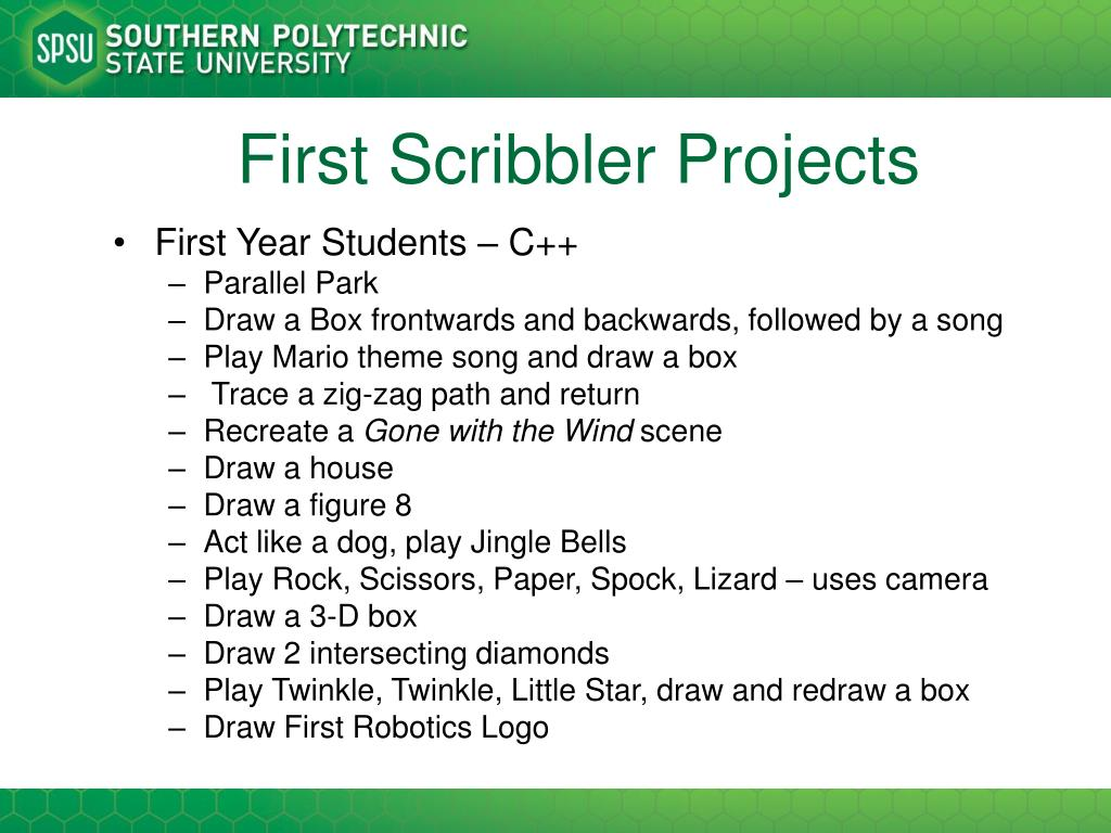 First Scribbler Projects