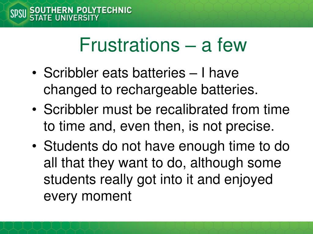 Frustrations – a few