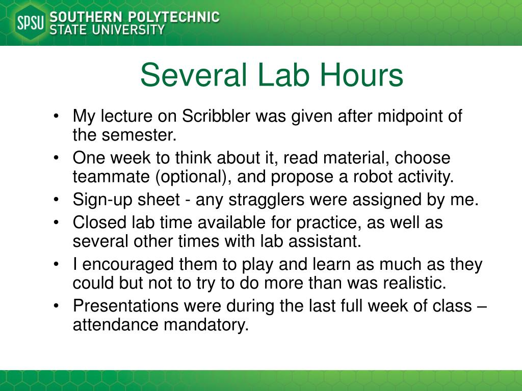Several Lab Hours