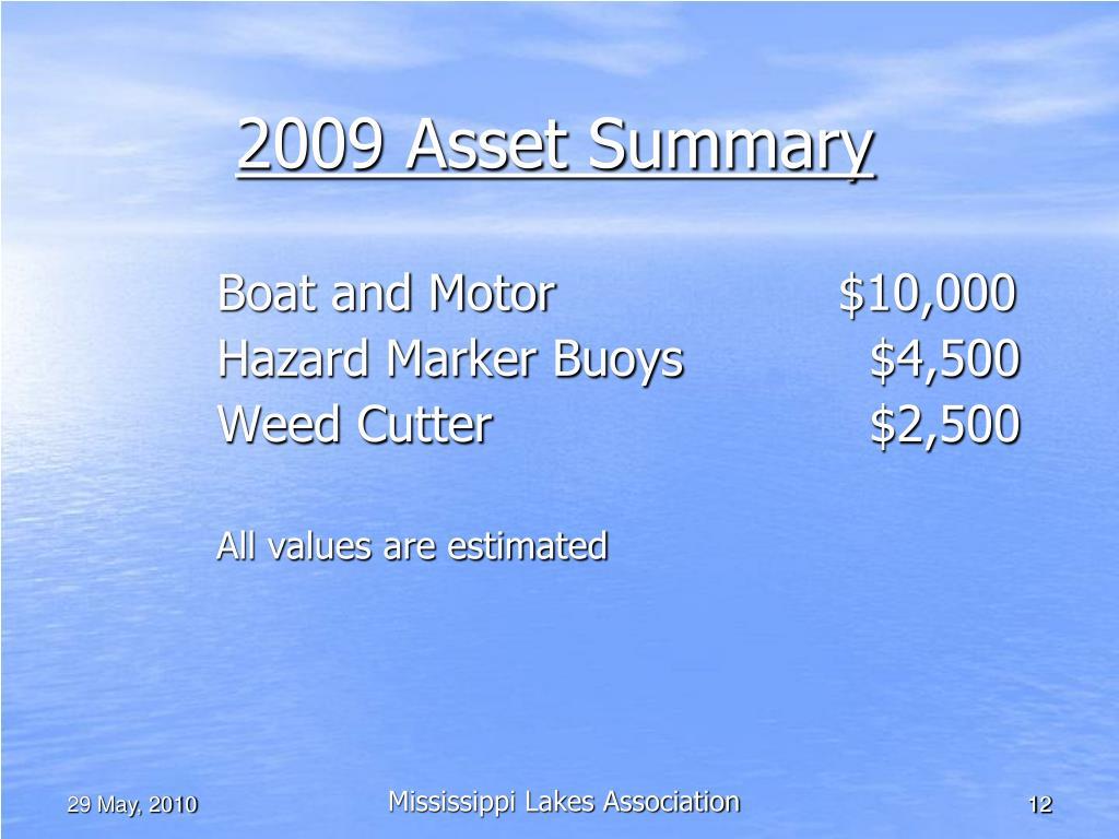 2009 Asset Summary