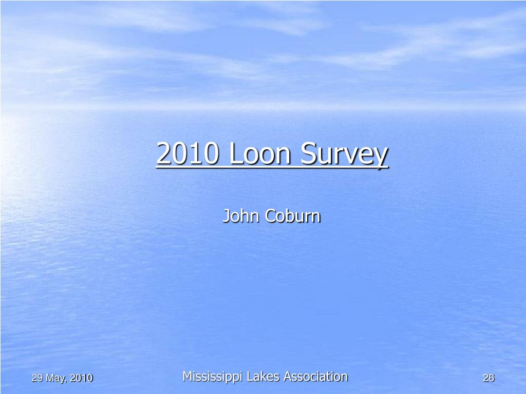 2010 Loon Survey