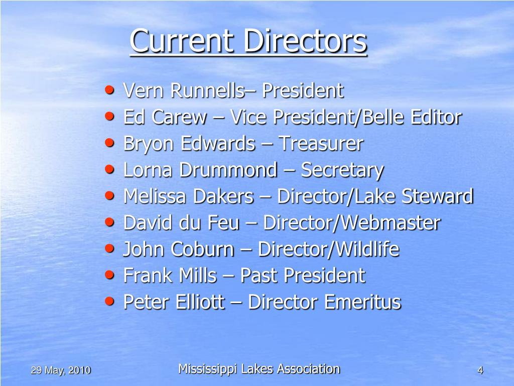 Current Directors