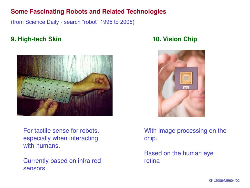 Some Fascinating Robots and Related Technologies