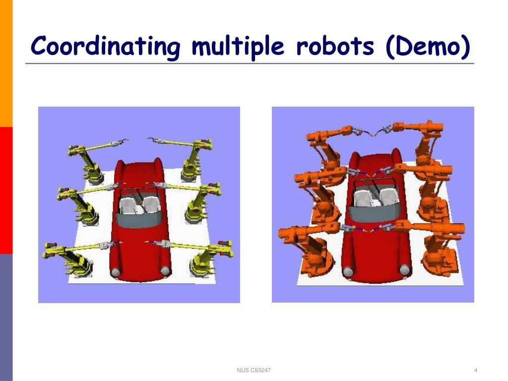 Coordinating multiple robots (Demo)