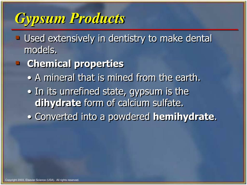 Gypsum Products