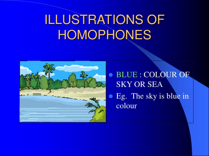 Illustrations of homophones3