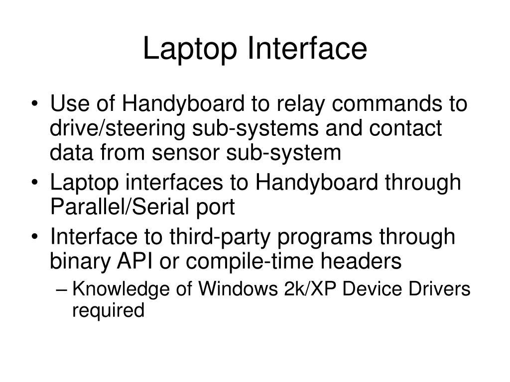 Laptop Interface