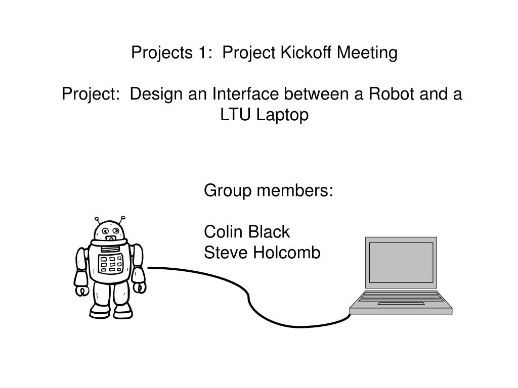 Projects 1:  Project Kickoff Meeting