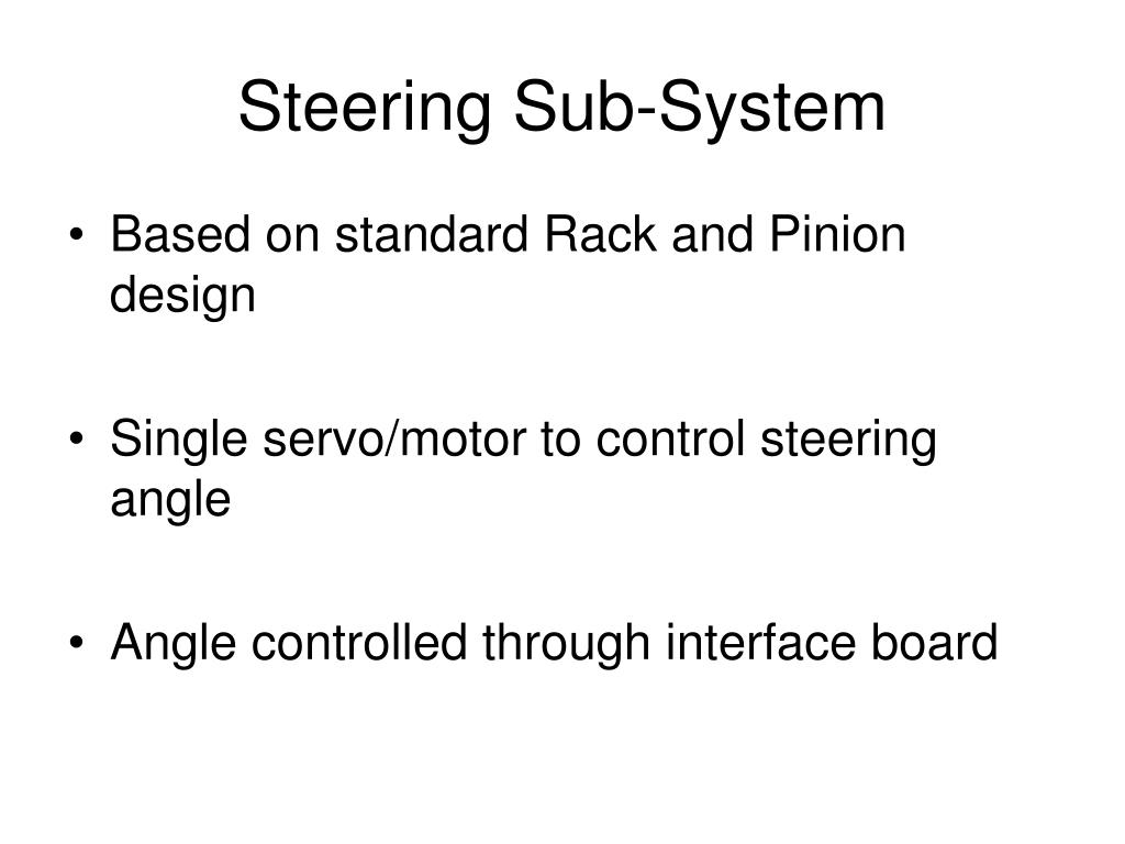 Steering Sub-System