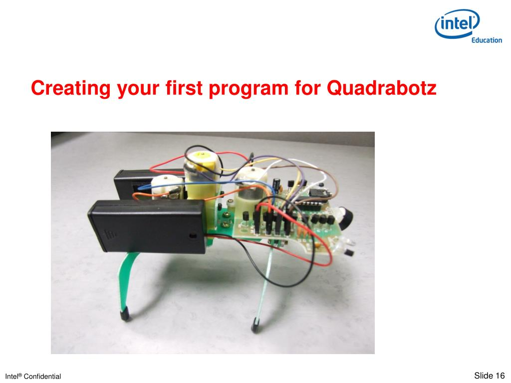 Creating your first program for Quadrabotz