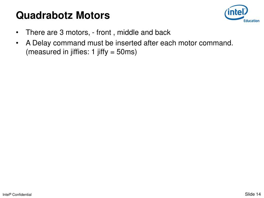 Quadrabotz Motors