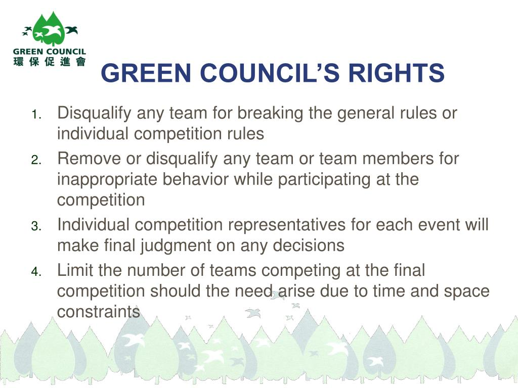 GREEN COUNCIL'S RIGHTS