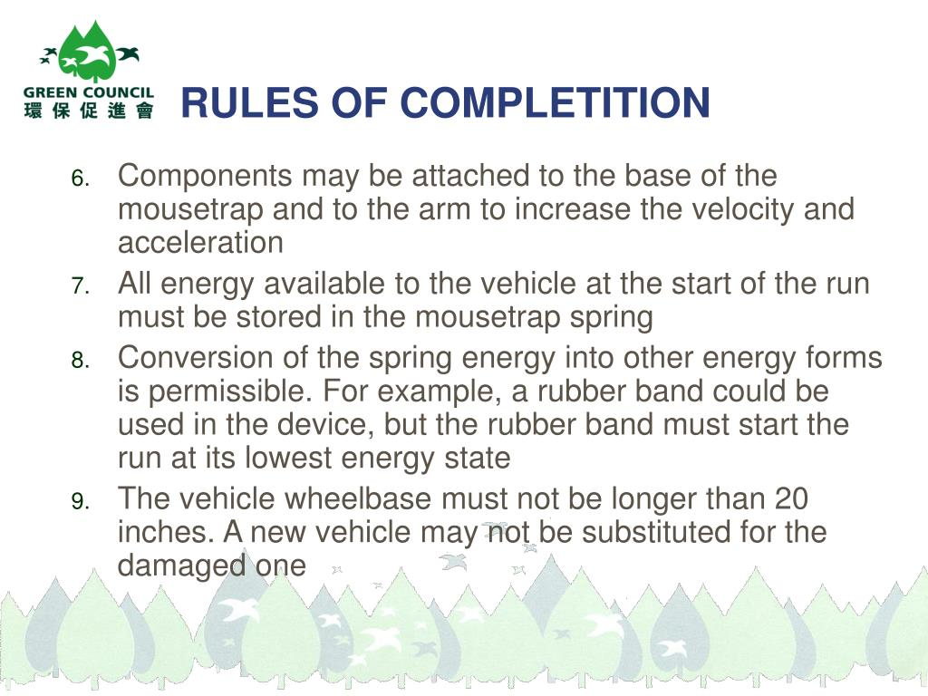 RULES OF COMPLETITION
