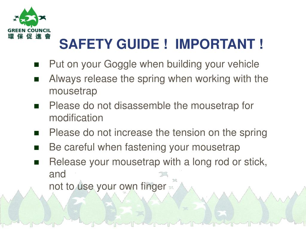 SAFETY GUIDE !  IMPORTANT !