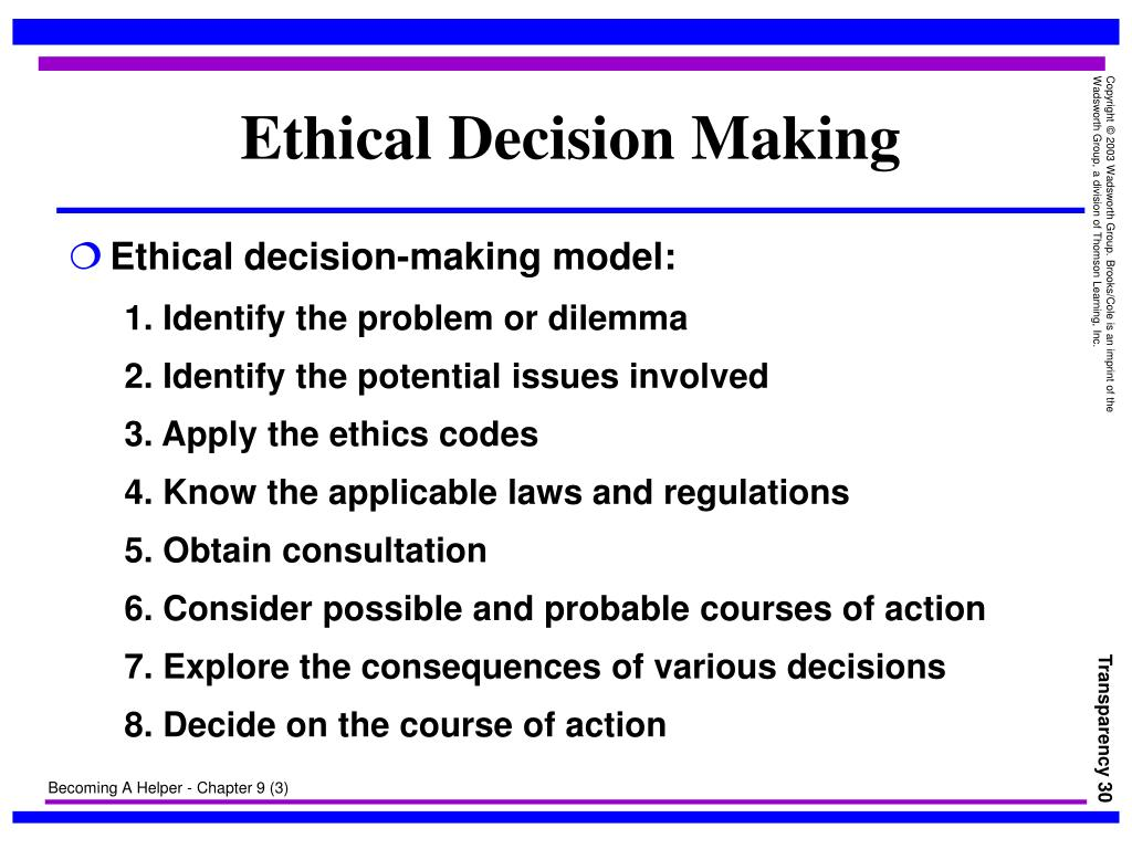Ethical decision making report