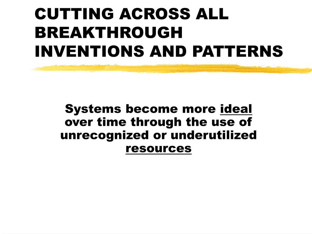 CUTTING ACROSS ALL BREAKTHROUGH INVENTIONS AND PATTERNS