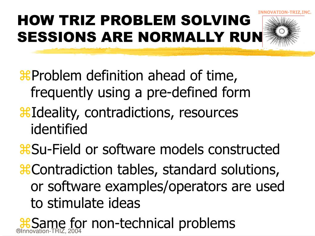 HOW TRIZ PROBLEM SOLVING