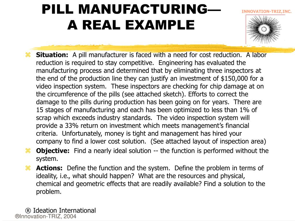 PILL MANUFACTURING—