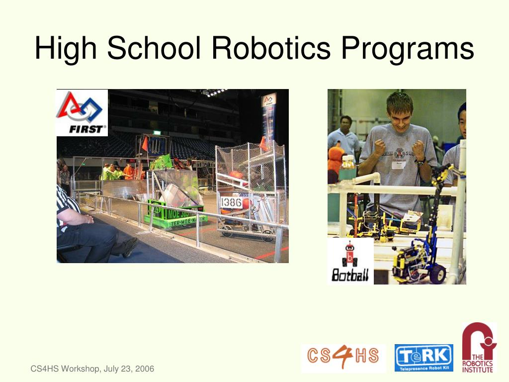 High School Robotics Programs