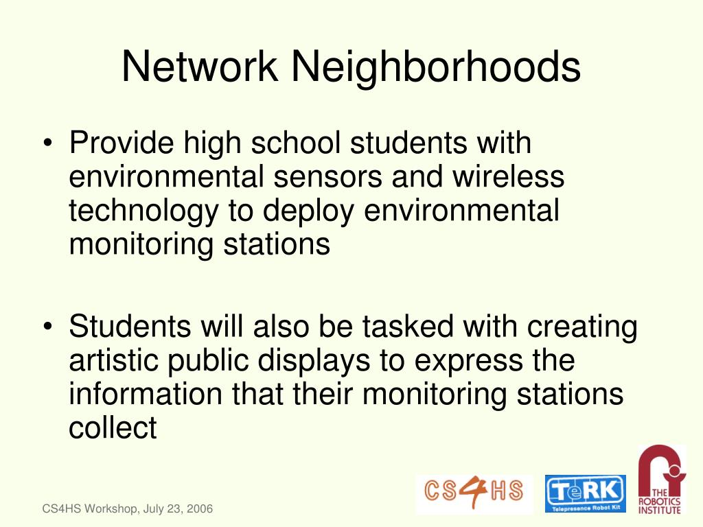 Network Neighborhoods