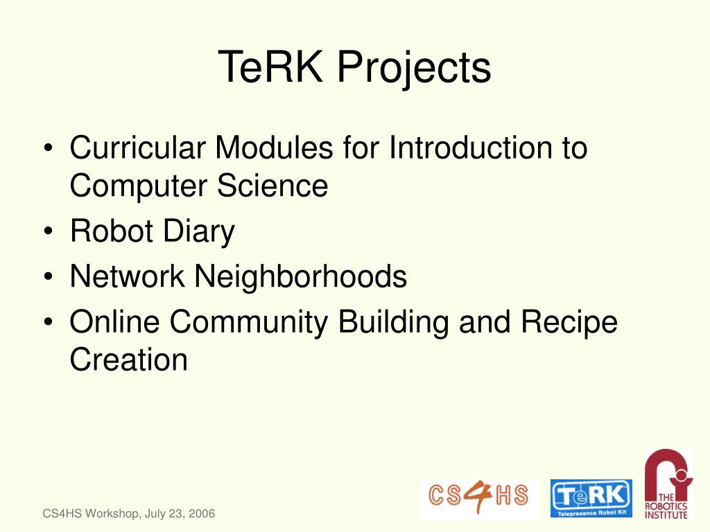 TeRK Projects