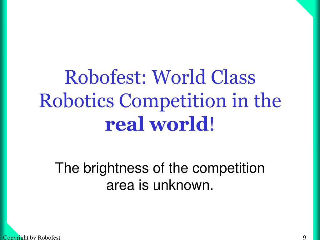 Robofest: World Class Robotics Competition in the