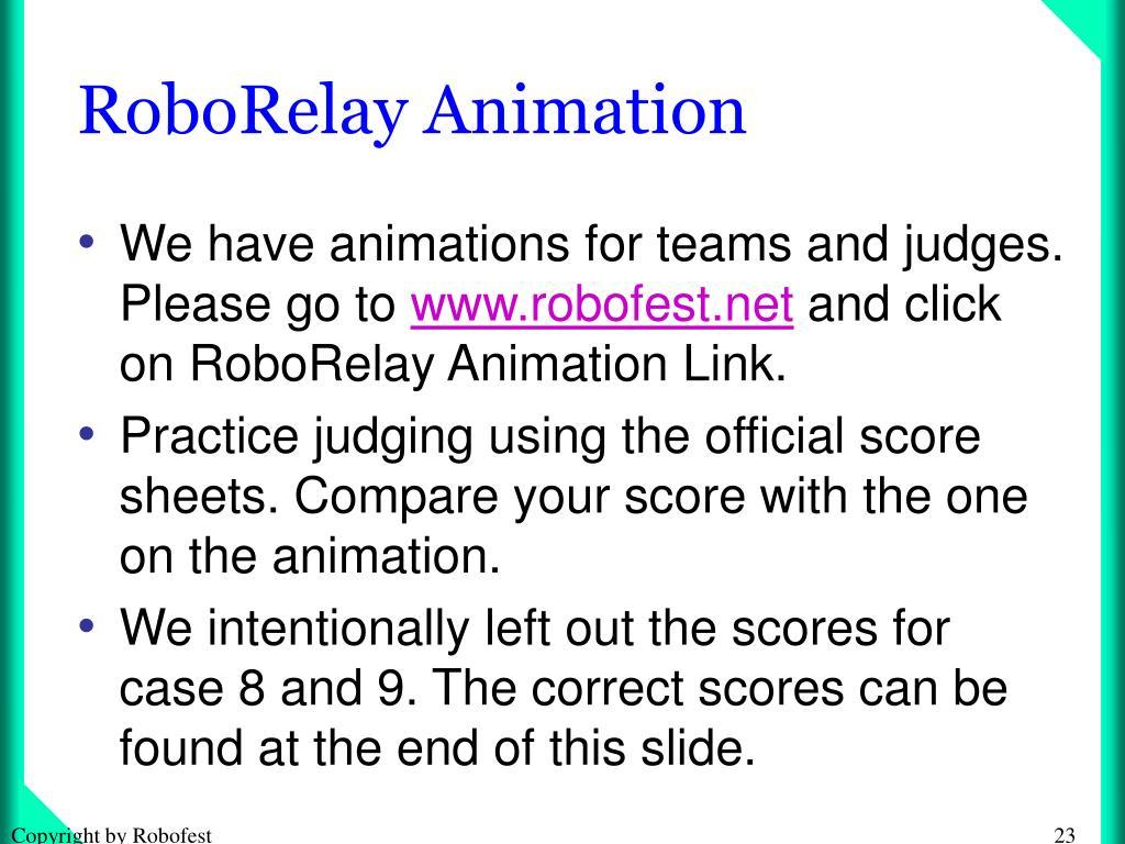 RoboRelay Animation