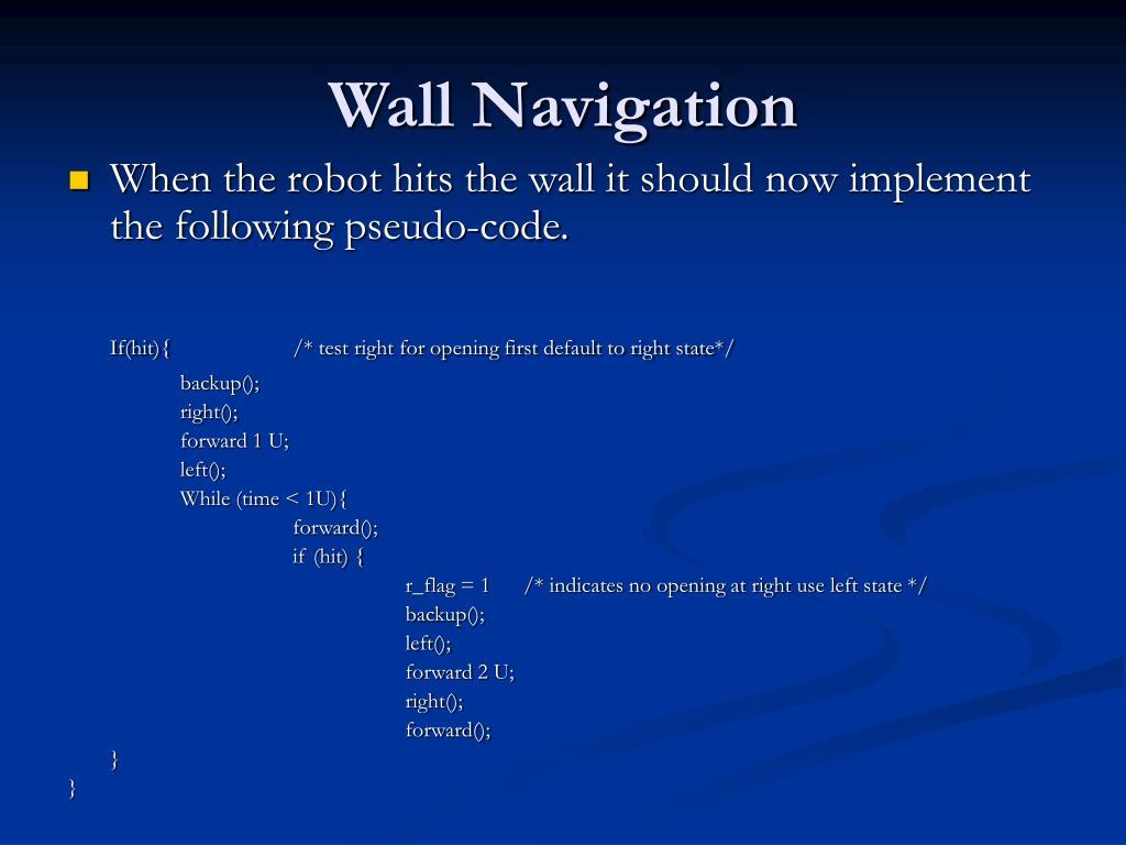 Wall Navigation
