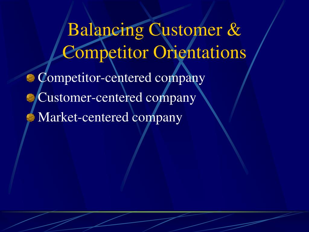 Balancing Customer & Competitor Orientations