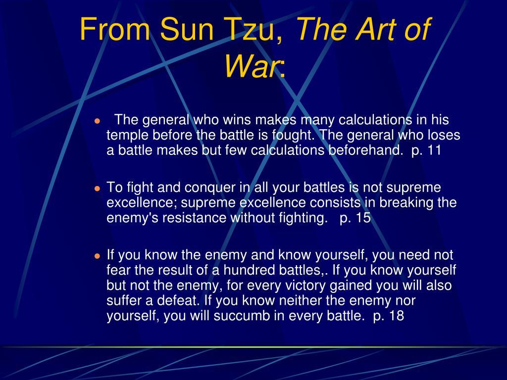 From Sun Tzu,