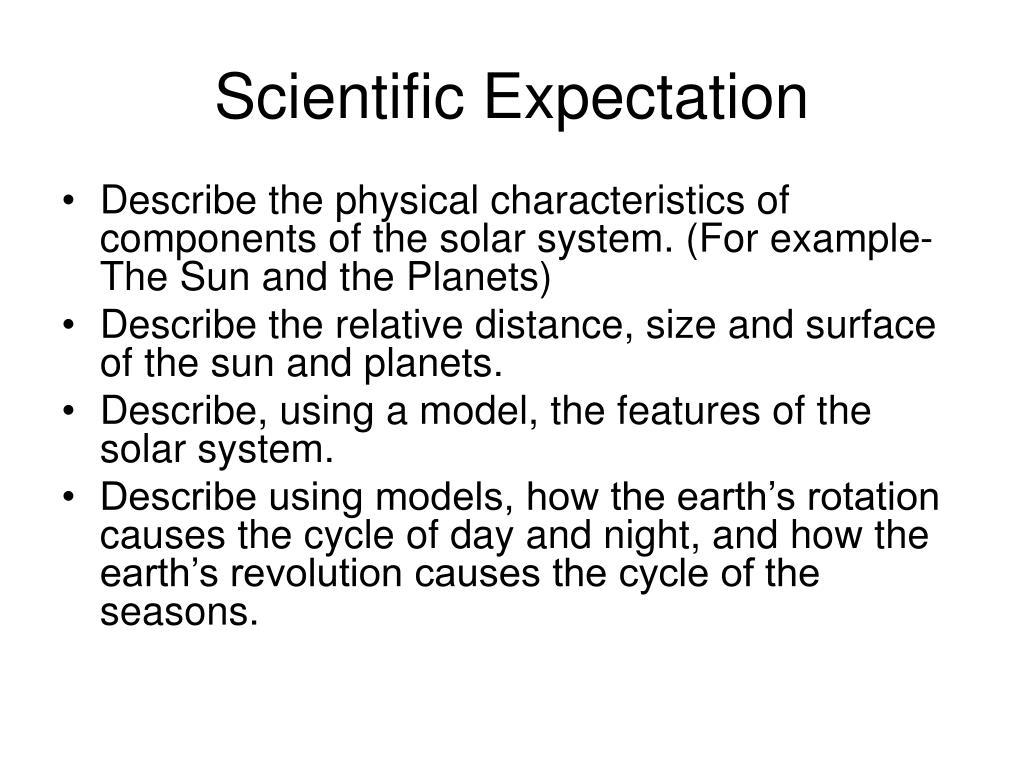 Scientific Expectation