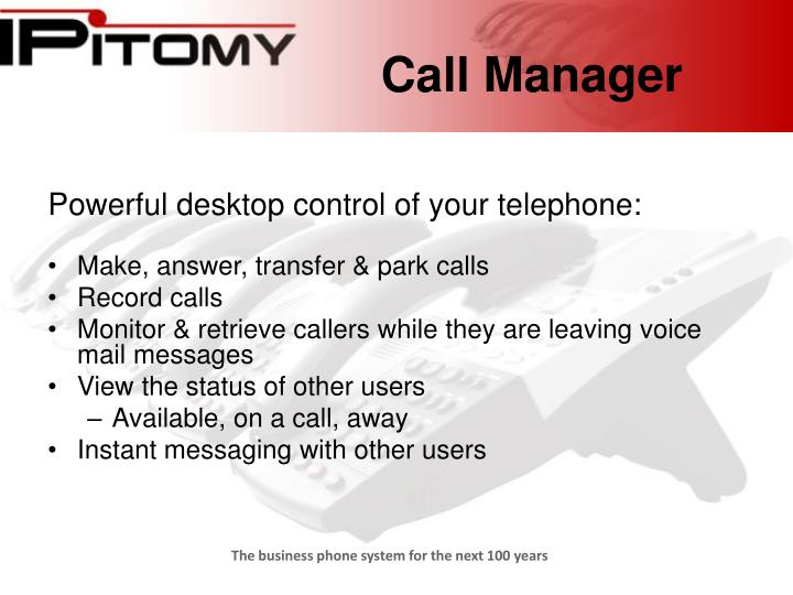 Call manager2